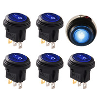 1 UNIDS LED Round12V 3-Pin On / Off Rocker Switch Impermeable Auto Barco B00430