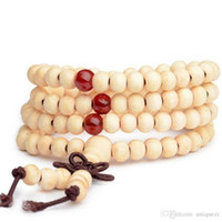 Hot Sale 108 Beads Women Men 6mmSandalwood Buddhist Buddha M...