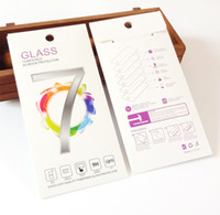 Оптовая продажа на заказ красочная жесткая бумага упаковочная коробка для iphone 7 7 плюс 9 H твердость закаленное стекло защитная пленка для упаковки
