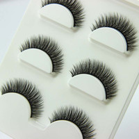 3 pairs  set 3D Cross Thick False Eye Lashes Extension Makeu...