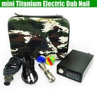 mini electric Titanium Dab nail universal DNail set for 10 1...