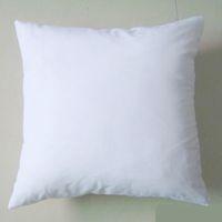 Poly plaine blanc bricolage blanc sublimation tablimation couvre-oreiller couvercle 150gsm tissu 40cm 50cm carré taie d'oreiller blanc carré pour bricolage imprimé / peinture