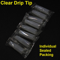 Individual sealed wrapped Clear silicone test tip soft drip ...