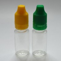 10ml E- liquid Plastic Dropper Bottle With Tamper Evident Chi...