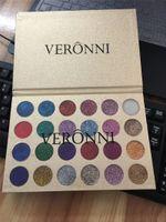 Veronni مضغوط بريق عينيه 24 ألوان لامع للماء طويل الأمد ظلال العين لوحة ماكياج بريق لوحة جودة عالية