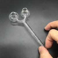 2016 새로운 스타일 slingshot 모양 유리 흡연 손잡이 파이프 투명 투명 유리 오일 버너 유리 파이프 튜브 유리 무료 배송