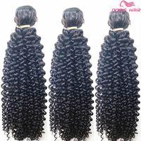 3pcs / lot TOP Grado 8A rizado rizado armadura del pelo humano brasileño indio afro rizado rizado rizado paquetes de cabello humano extensiones envío gratis DHL