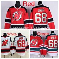 Jersey de hockey de Jersey N ° 68 Jarrey Jarrey Jersey Jersey Accueil Rouge Road Blanc N'importe quel nom Nom Jaromir Jagag cousu Jersey