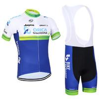 2016 Orica Greenedg Proチームブルーグリーン半袖サイクリングジャージーサマーサイクリングウェアRopa Ciclismo + BIBショーツ3Dゲルパッドセットサイズ:XS-4XL