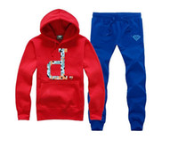 Diamond Supply suit Hoodies + pants S-5XL Hombres y Mujeres Pareja Cotton Round O-Neck Hip Hop Hoodie Jacket Coat