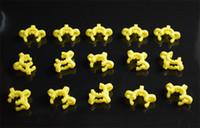 10/14 / 18мм совместный Пластиковые Кек Клип с желтого цвета Пластиковые Кек Лаборатория / Lab Зажим Зажим для стекла Бонг стекла адаптер