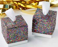 50PCS New Wedding Party Favors And Gifts Candy Box Gold Glit...