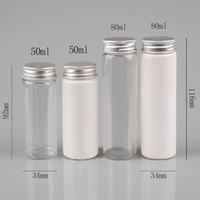 Tubo trasparente di prova di bagno di sale maschera trasparente / bianco all'ingrosso con tubo di alluminio 50cc / 80cc trasparente / bianco tubo di plastica