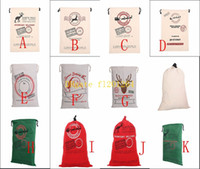 10pcs lot Free Shipping 2015 New Christmas Gift Bags Large C...