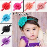 Bambini per bambini Hairband Hollow Wave Edge Chiffon Flower Infant Baby Girls Elastic Hair Band Fascia per capelli Colore