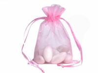 100шт органзы упаковка сумки ювелирные сумки свадебные сувениры Рождественская вечеринка подарочная сумка 9 х 12 см ( 3,6 х 4,7 дюйма)