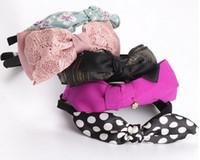 Bandeau Bandeau en tissu Bandeau de coiffure Bandeaux de bijoux pour femme cadeau 10pcs / lot Mix Colors Style HJ030