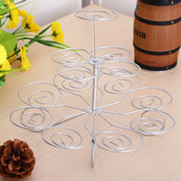 Detachable 3 Layers Iron Cake Stand 13 Cupcake Holder Cup Tr...