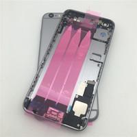 100% genuino di alta qualità grigio completo alloggiamento di montaggio completo posteriore centrale telaio posteriore in metallo coperchio della batteria sostituzione per iPhone6 6S 6 PLUS