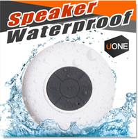 Altoparlanti doccia impermeabile altoparlante senza fili Bluetooth Handsfree Mic aspirazione Chuck altoparlante dell'automobile mini portatile MP3 Super Bass destinatario della chiamata