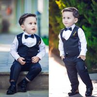 Événements de mariage le costume de gentilhomme a culminé revers costumes de cravate pour garçon Vente de vêtements sur mesure formel garçon