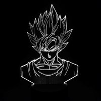 2017 Brand New Goku 3D Illusion Night Lamp 3D Optical Lamp A...