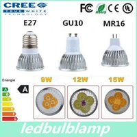 Free shipping High power CREE Led Lamp 9W 12W 15W Dimmable G...