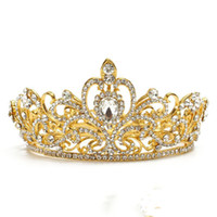 Luxury Vintage Rhinestones crown Baroque Crystal Bridal Tiar...