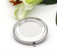 Blank компактное зеркало металла Косметическое зеркало для макияжа увеличительное DIY Портативный Зеркало серебро Цвет # 18410-1