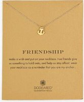Dogeared Necklace with boat anchor (friendship), silver and ...