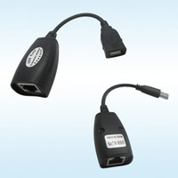 Prolunga USB Ethernet RJ45 Cat5e / 6 Cavo adattatore LAN Ripetitore Extender Set Amplificatore di segnale a 50M Cavi di rete