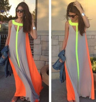 Wholesale Women Summer Clothes 2016 Casual Beach Long Dress ...