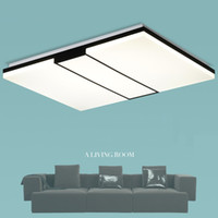 L46- Modern Rectangle Square Thin LED Ceiling Chandelier Crea...