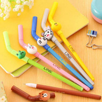 Free Shipping 10pcs lot Cartoon Shape Gel Pen Writing Pen Un...