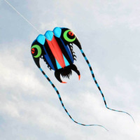 3D 10 m² 1 lijn blauwe stunt parafoil trilobieten power sport kite outdoor speelgoed