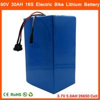 60V 3000W Lithiumbatterie 60V 30AH Elektrische Fahrrad Batterie 3,7 V 5000mAh 26650 Zelle 50A BMS und 67,2V 2A Ladegerät