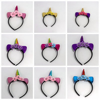 Rainbow Unicorn Headbands Birthday Party Children Headbands ...