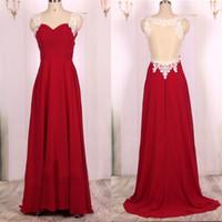 Vestido de noche de alta calidad, de color rojo, gasa, fruncido, top apliques de encaje, ilusión, ver a través, espalda, desfile, ropa, tren de barrido