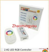 1PCS RVB contrôleur led DC12-24V 18A RVB contrôleur led 2.4G écran tactile RF télécommande pour led bande / ampoule / downlight