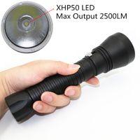 KC Fire New CREE XHP50 Diving Flashlight LED Professional Diving 100M High Brightness White Light Power Outdoor Light DL0015