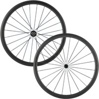 AWST 38mm carbon wheelset 700c clincher powerway hubs with 2...