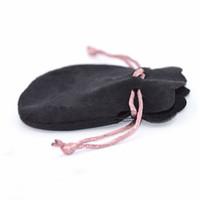브랜드 로고 블랙 벨벳 가방 보석 선물 가방 보호 패션 플란넬 렛의 블랙 컬러 10 개 많이