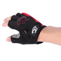 1 Paar Halbe Fingerhandschuhe Radfahren Fahrrad Kurze Mountainbike Reiten Sport fitness Handschuh kostenloser versand