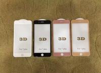 Venda quente de vidro para iphone7 4.7 polegadas 3d curve protetor de tela completa tampa de tela de vidro temperado com pacote de varejo