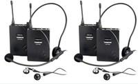 New Mais Barato Atacado Takstar UHF-938 sem fio fone de ouvido sistema de guia turístico Para A Visita Turismo Conferência de Ensino de Treinamento 2 conjunto / lote