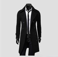 Männer lange Jacken Luxus Concis Coats Warme Outwear Herren Kollegierte Warme Mode Windjacke Graben Mantel Business Man Manteljacken High