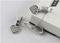 Gratis frakt 100st Lim på Bail Cabochon Inställningar Hjärta Charm Pendants Smycken Göra DIY 5 Färger