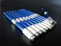 10 قطع ماكياج الحواجب الدائم القلم الوشم الإبر دليل microblading التجميل التطريز بليد الوشم الإمدادات الألوان الزرقاء