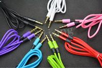 A3.5mm AUX Ses Kabloları Erkek Stereo Stereo Uzatma Ses Kablosu MP3 Için telefon Için 10 Renkler 300pec DHL Ücretsiz Kargo