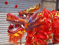 D 18m taglia 3 # 10 adulto 9 persone comuni seta DRAGO CINESE Danza Folk Festival Celebrazione masdcot Costume